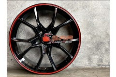 ZR165 CIVIC TYPE-R ขอบ18 5x114.3 ET+35 Black Red Lip